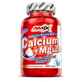 Vitaminas y Minerales Amix Calcio + Magnesio + Zinc 100 tabl