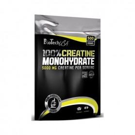 BioTech USA 100% Creatina Monohidrato Micronizada Bolsa 500 g