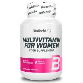 Vitaminas y minerales BioTechUSA Multivitamin for Women 60 tabs
