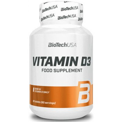 Vitaminas BioTechUSA Vitamin D3 60 tabs