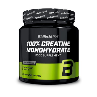 BioTech USA 100% Creatina Monohidrato Micronizada Bote 500 g
