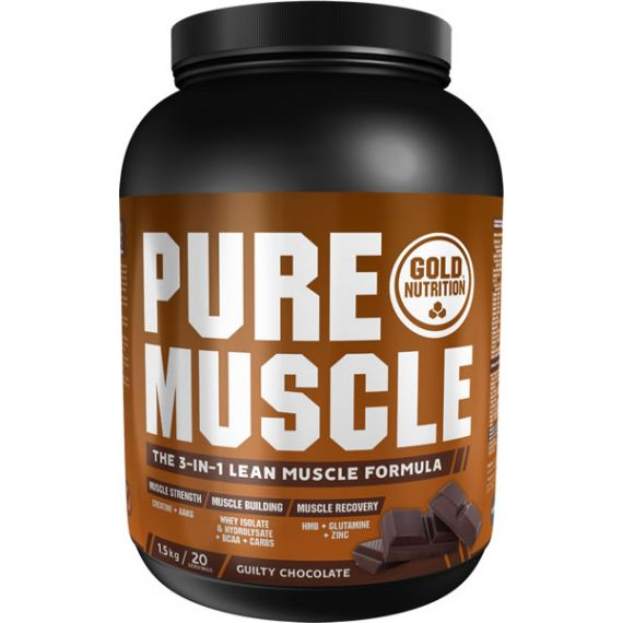 Ganador de Masa Gold Nutrition Pure Muscle 1,5 kg