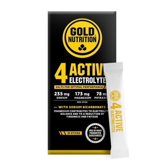 Gold Nutrition Sales minerales 4 Active Electrolitos
